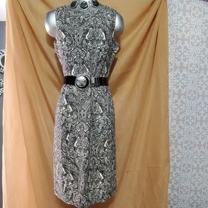 Talbots Paisley Short Sleeve Dress Size 6